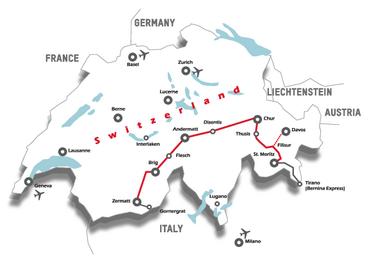 Streckenkarte MGB Netz