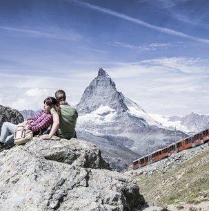 Wandern Bergwelt Zermatt Gornergrat Gornergrat/Wallis/Schweiz